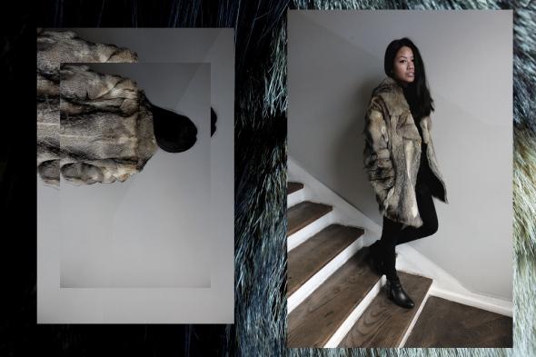 OOTD: Vintage Fur Jacket // Vintage Felljacke