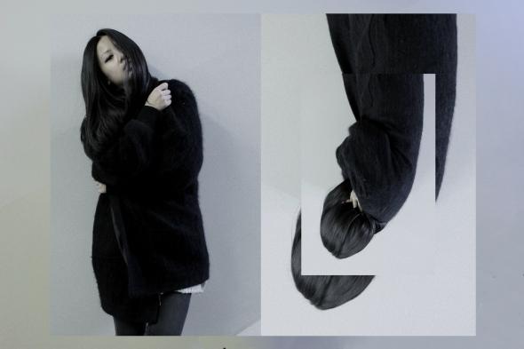 OOTD: Schwarze Vintage Mohair Jacke