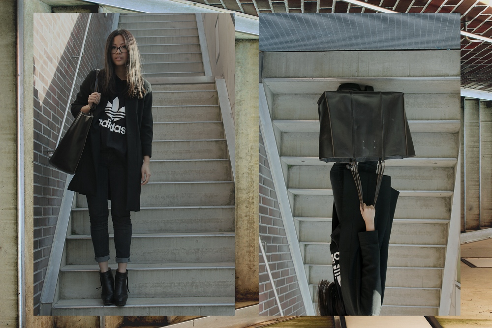 OOTD: Adidas Original Shirt + Zara Coat