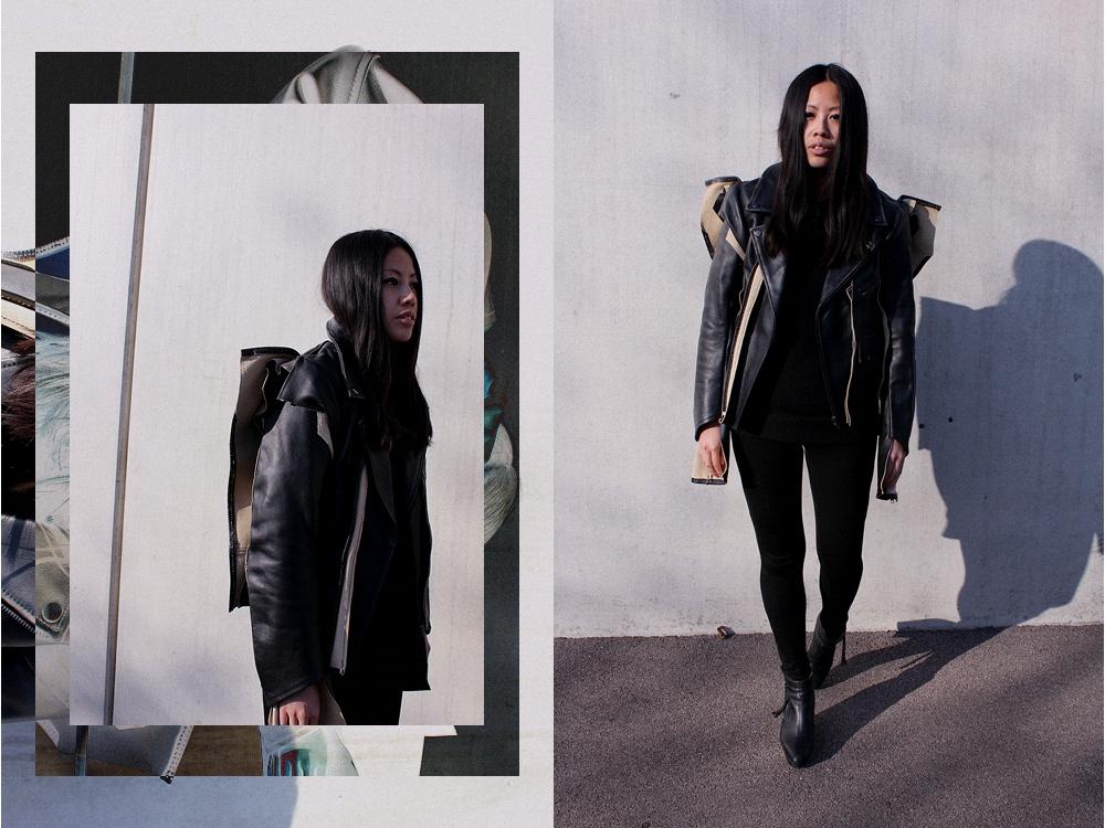 OOTD: MMM x H&M Adjusted Leather Jacket