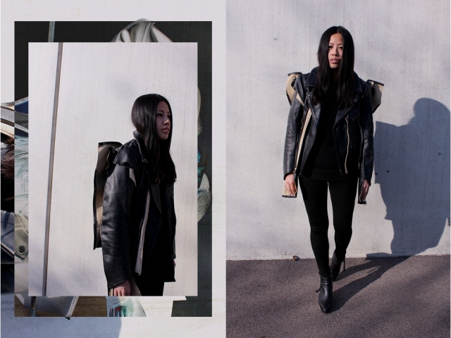 OOTD: MMM x H&M Adjusted Leather Jacket