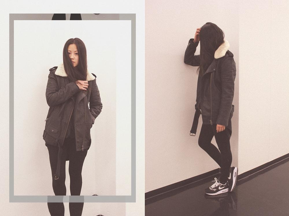 OOTD: The Kooples Leather Jacket + NikeiD Air Max