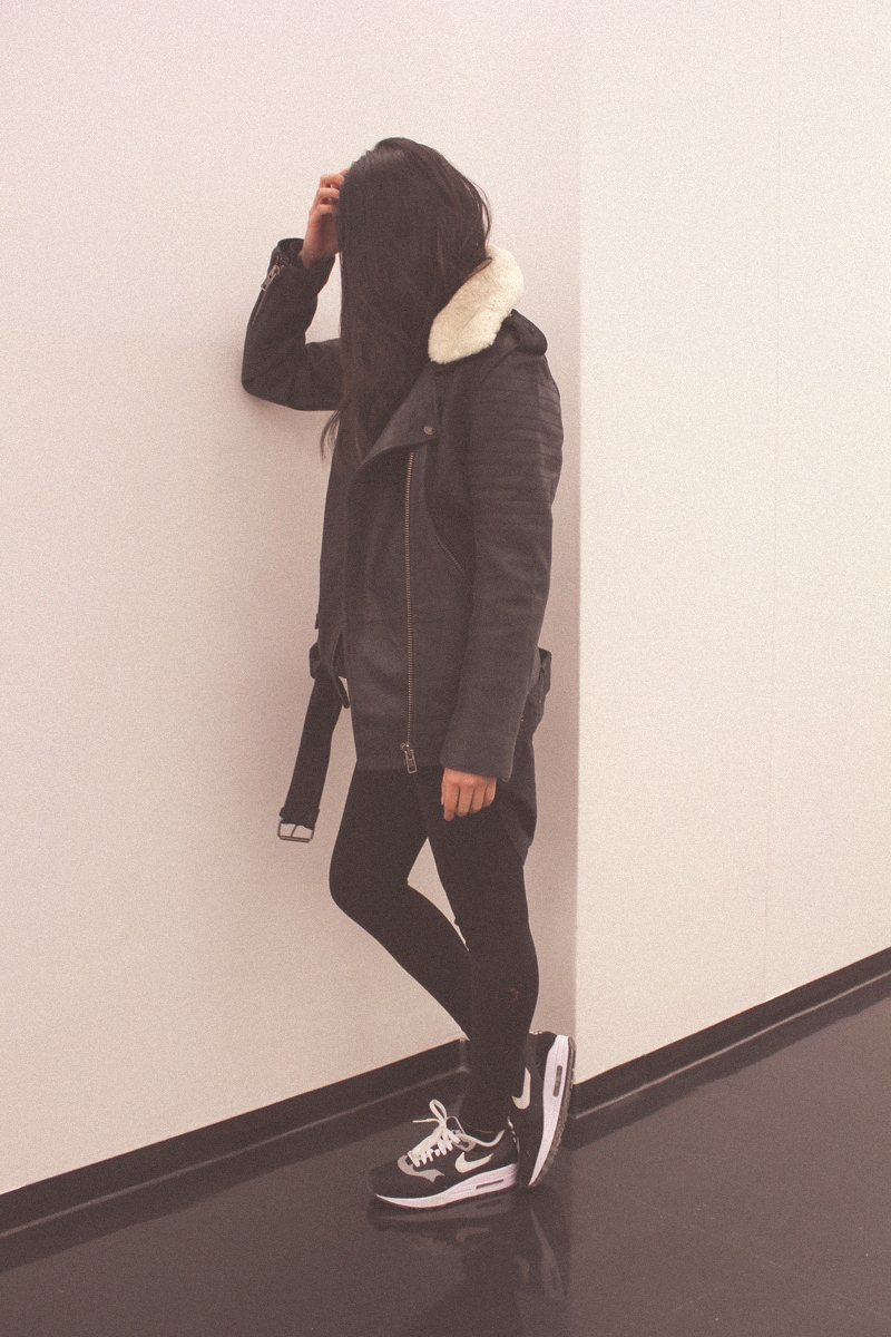 OOTD: The Kooples Leather Jacket + NikeiD Air Max