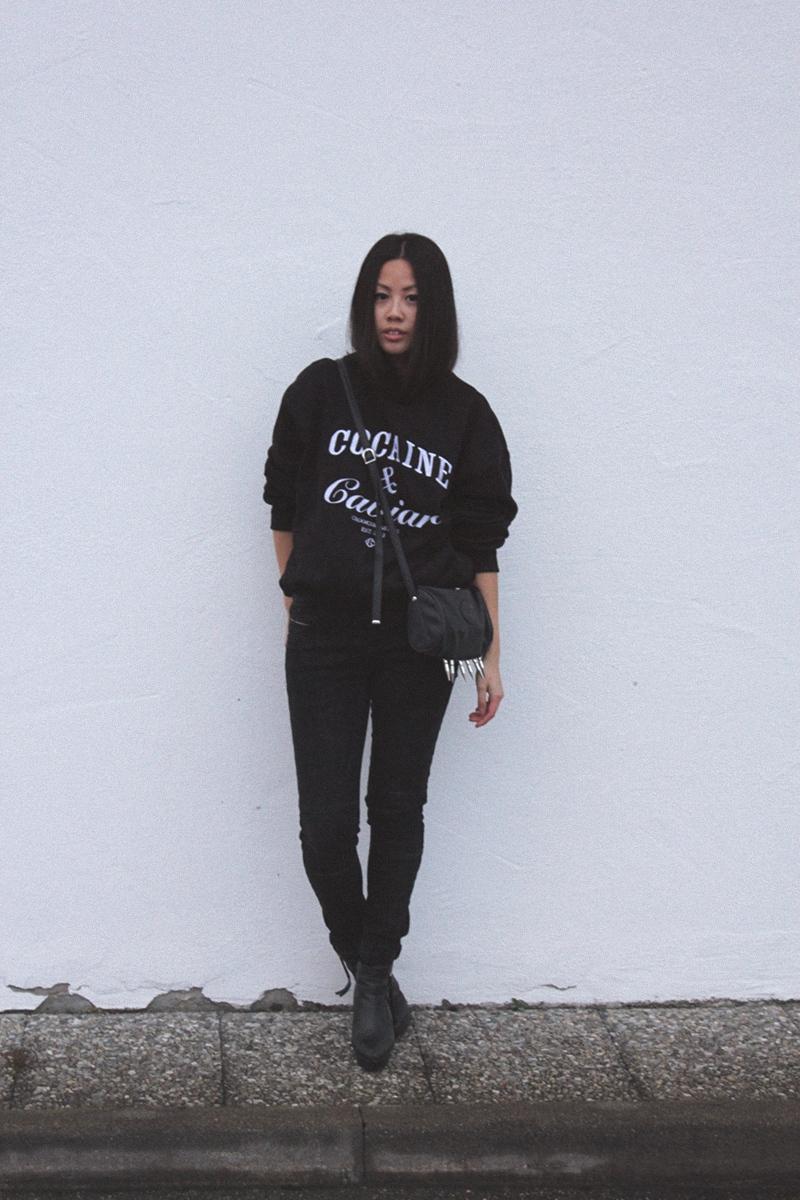 OOTD: Zara TRF Jeans + Crooks&Castles Sweater