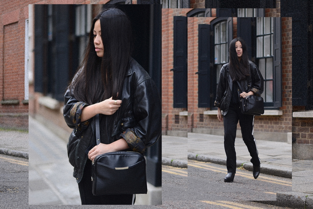 OOTD: Forever 21 Pants & Vintage Leather Jacket
