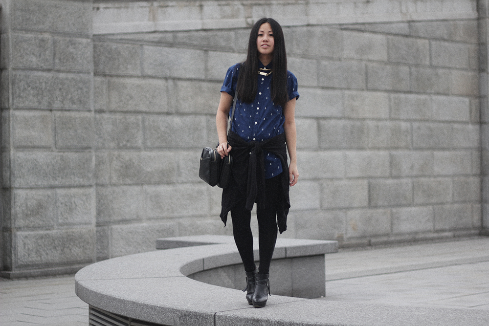 OOTD: Primark Anchor Shirt & Acne Track Boots
