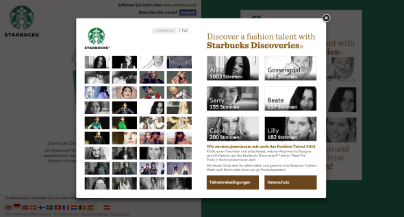 Starbucks Fashion Talent 2013 - Vote for Alice!