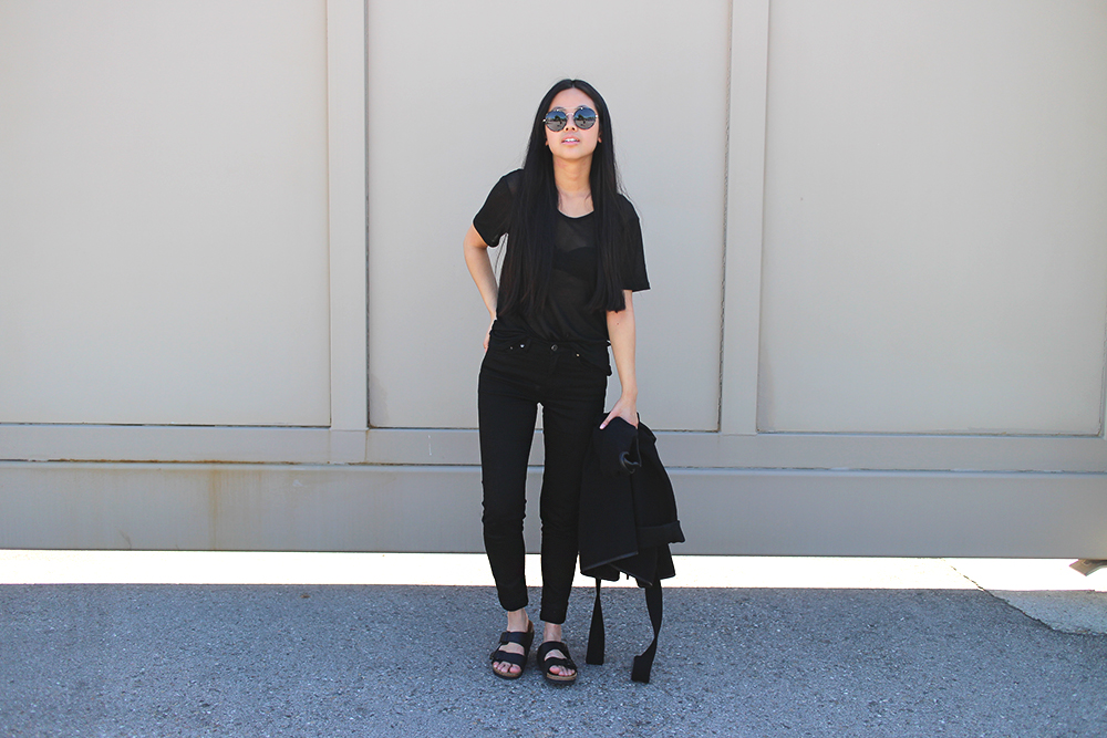 IHEARTALICE.DE – Fashion & Travel-Blog by Alice M. Huynh from Germany: All Black Everything Look wearing Michalsky Jacket & Arizona Birkenstocks