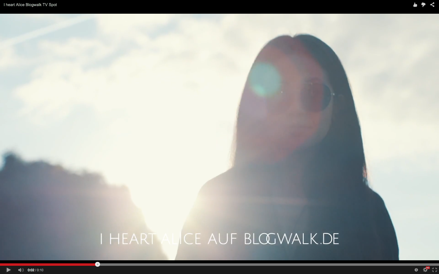 IHEARTALICE.DE – Fashion & Travel Blog: Blogwalk IHEARTALICE Werbespot