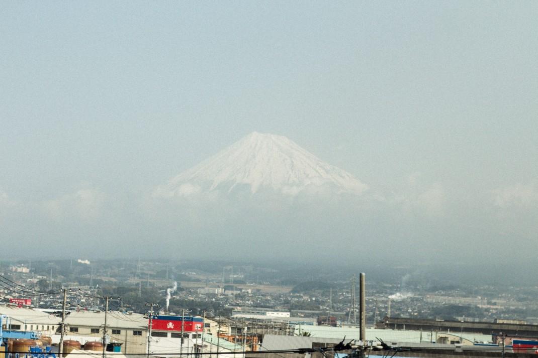 Japan Travel Diary: View on Mt. Fuji from the Shinkansen Bullet Train