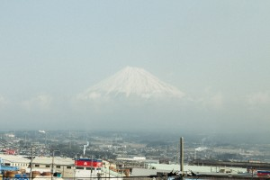 Japan Travel Diary: View on Mt. Fuji from the Shinkansen Bullet Train