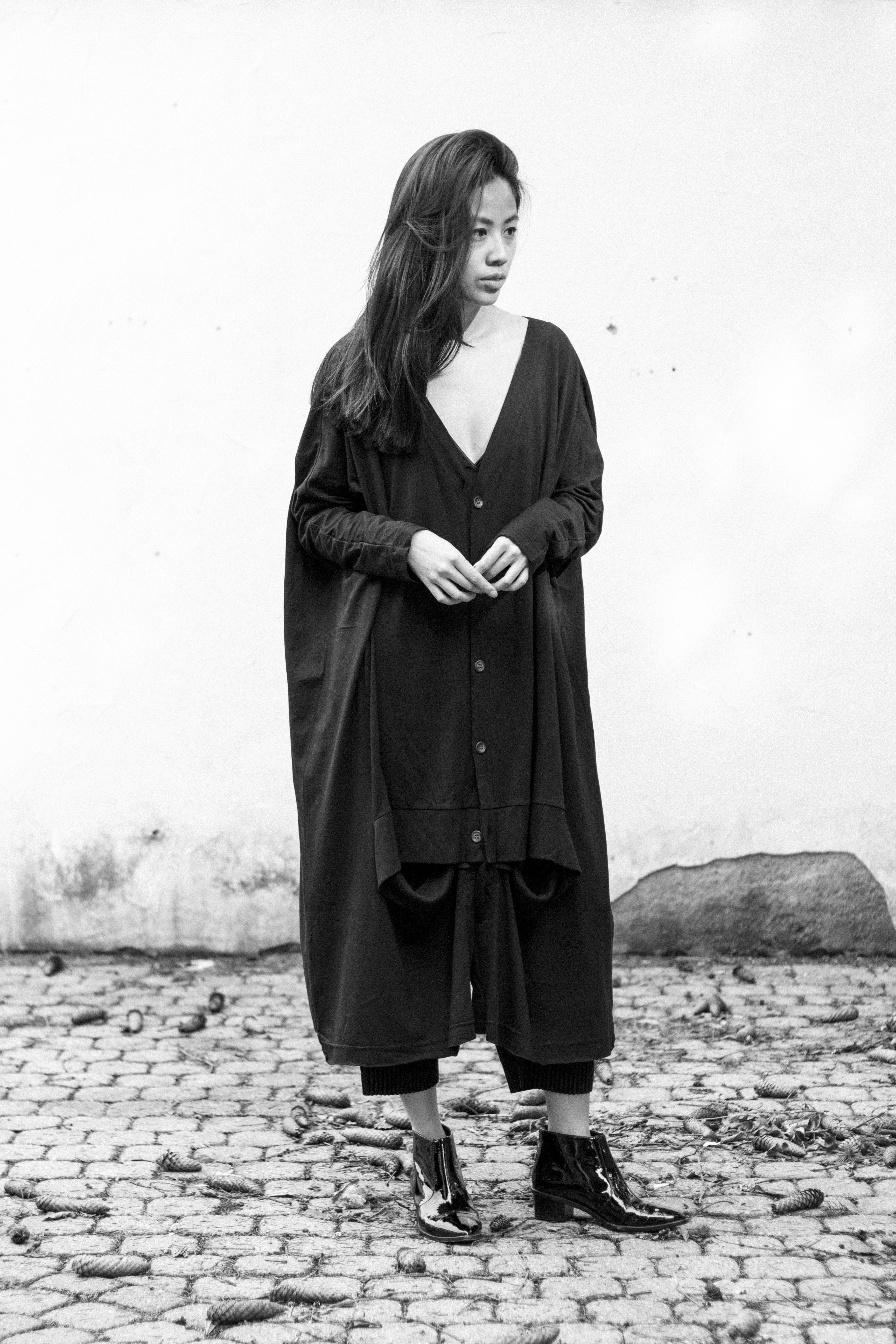 Looks of Alice: Oversize Ground Y by Yohji Yamamoto Cardigan