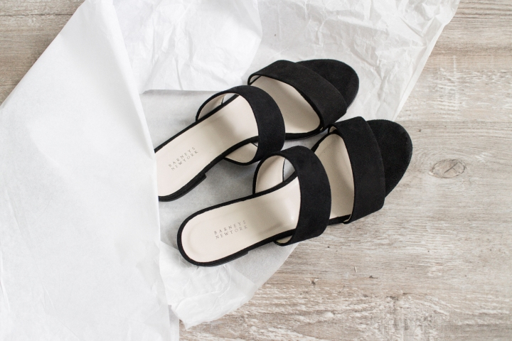 LA Shopping Haul: Barneys New York: Amalfi Suede Sandals
