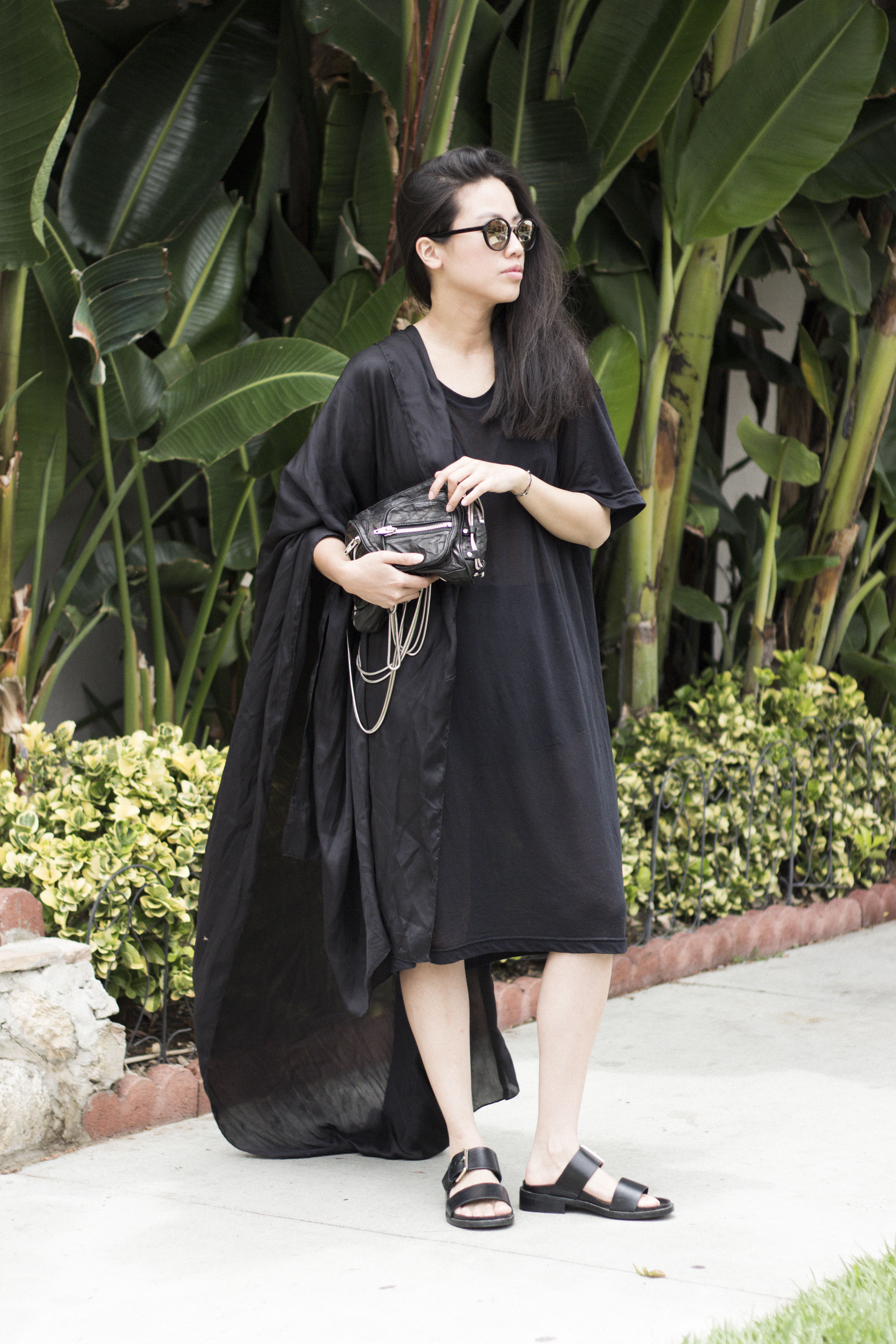 I HEART ALICE Looks: VIU Shades, OAK NY Shirtdress & Alexander Wang Brenda Bag