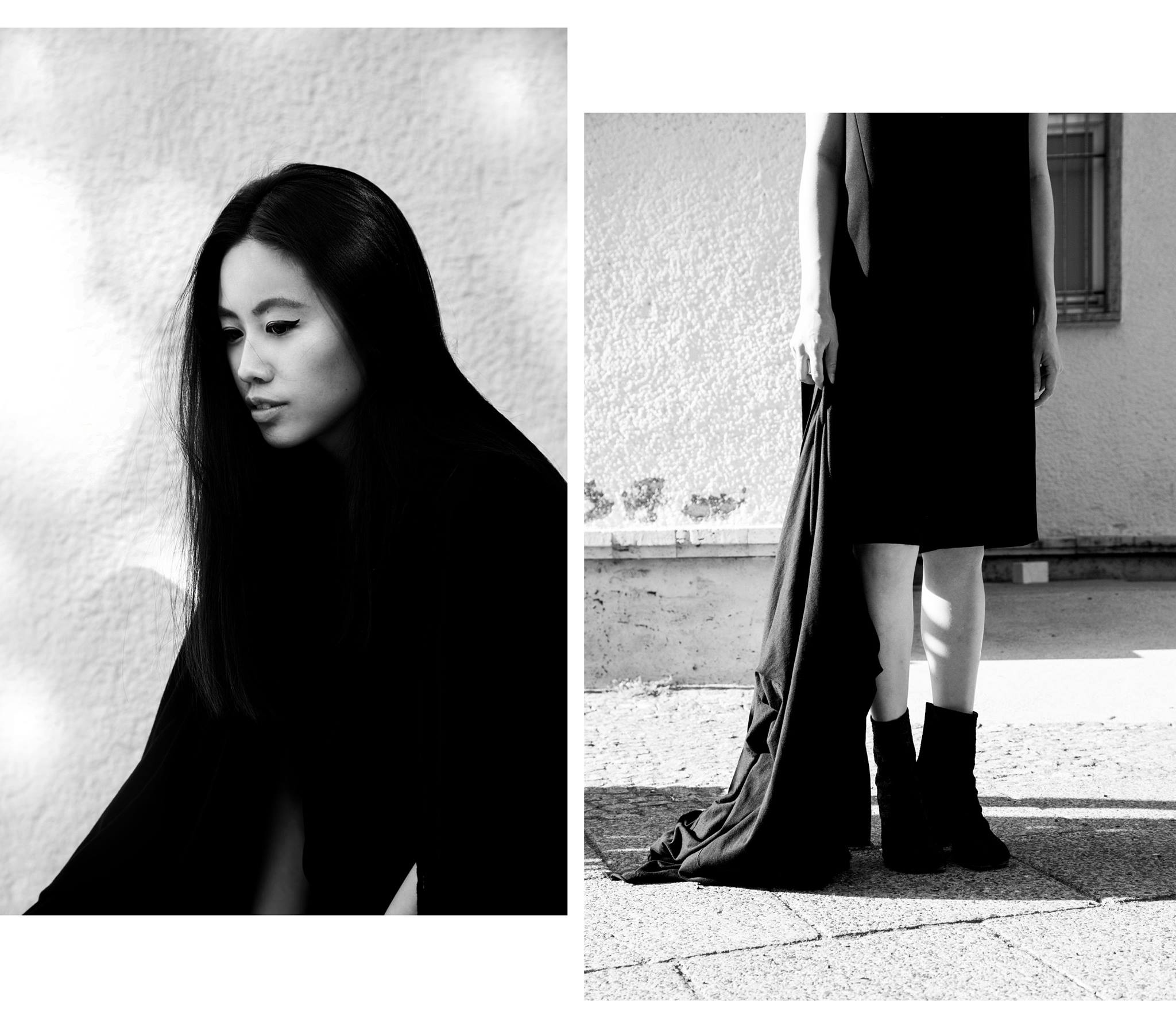 I HEART ALICE – Fashionblog from Germany: Alice M. Huynh wearing Karl Lagerfeld black Jumpsuit, Maison Martin Margiela Tabi Boots, Yohji Yamamoto Cardigan