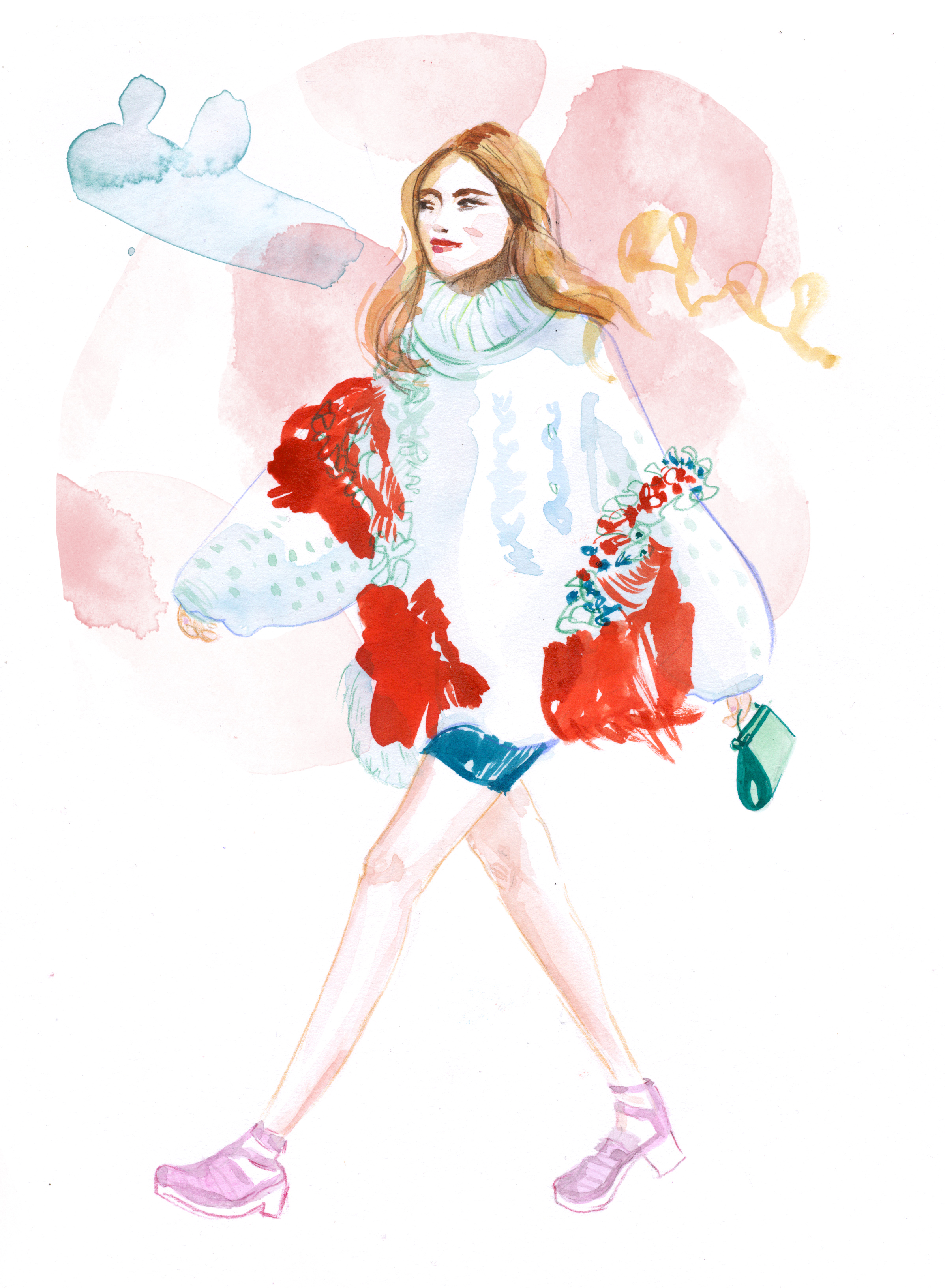 IHEARTALICE.DE - Travel, Lifestyle & Fashion-Blog from Berlin/Germany by Alice M. Huynh: Streetstyle Fashion Illustrations by Aivy Pham / Youtube Video / BUN BAO CHANNEL / Chiara Ferragni Streetstyle