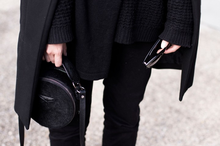 IHEARTALICE.DE – Travel, Lifestyle, Food & Fashion-Blog from Berlin/Germany by Alice M. Huynh: AllBlackEverything Looks by Alice, wearing Zara Coat, Won Hundred Knitwear Turtleneck, Acne Jeans, Carven Circular Handbag