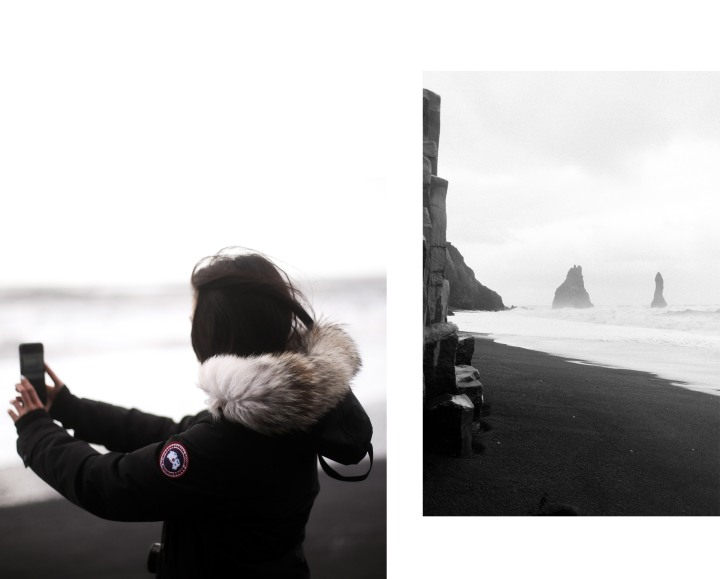 IHEARTALICE.DE - Fashion, Lifestyle & Travel-Blog from Berlin/Germany by Alice M. Huynh: Travel Diary with Black Canada Goose Kensington Parka & CAT Footwear in Iceland / Black Sand Beach / Travel-Diary