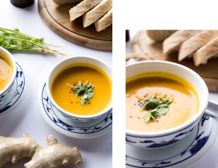 IHEARTALICE.DE – German Lifestyle & Food-Blog by Alice M. Huynh: Asiatische Kürbis-Ingwer Suppe mit Kokosmilch Rezept by Yvi Huynh